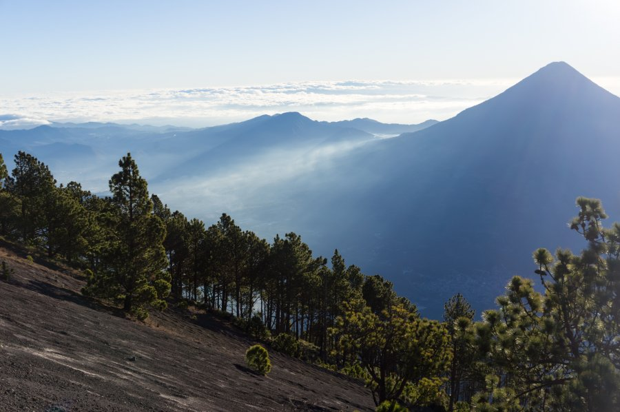 Ascension du volcan Acatenango, Guatemala