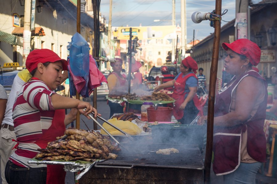 Barbecue à León, Nicaragua