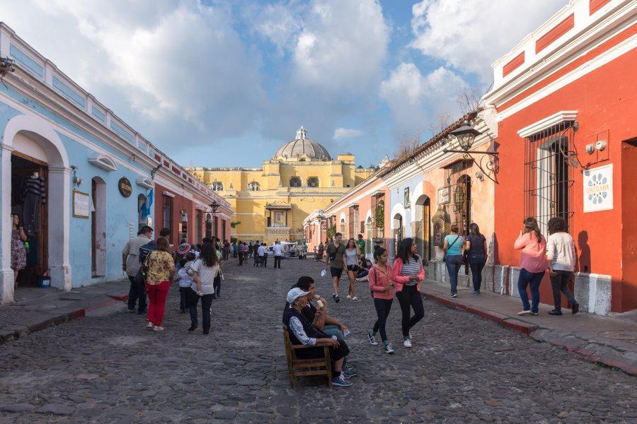 Rue piétonne d'Antigua, Guatemala