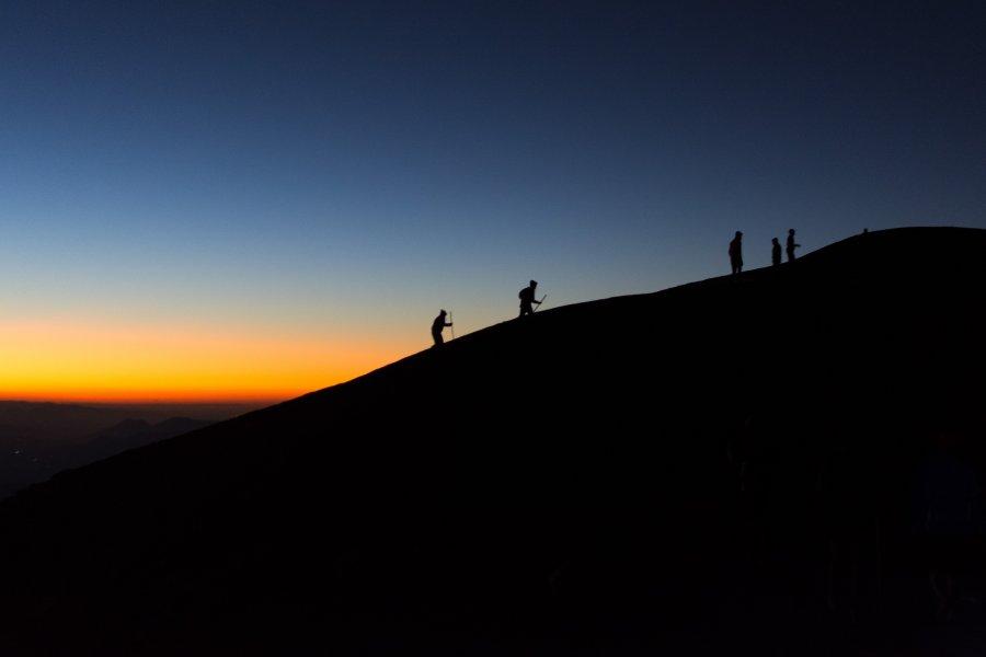 Lever de soleil en haut de l'Acatenango