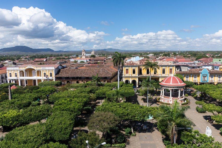 Vue sur le zocalo de Grenade, Nicaragua