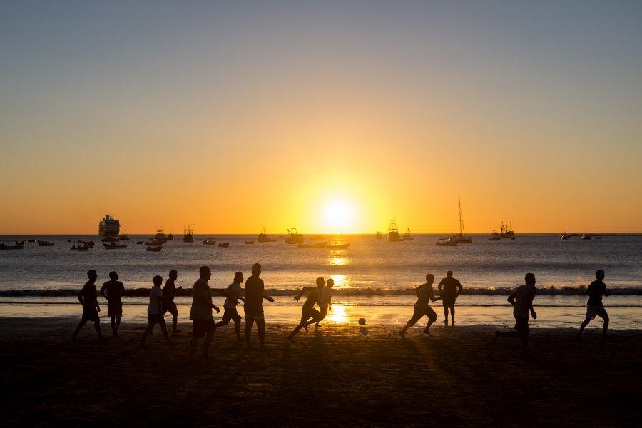 Coucher de soleil à San Juan del Sur, Nicaragua
