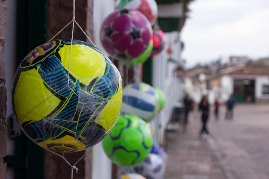 Ballons à Monguí, Colombie