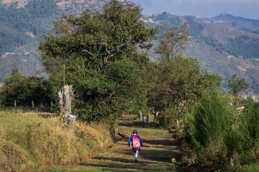 Randonnée autour de Monguí, Colombie