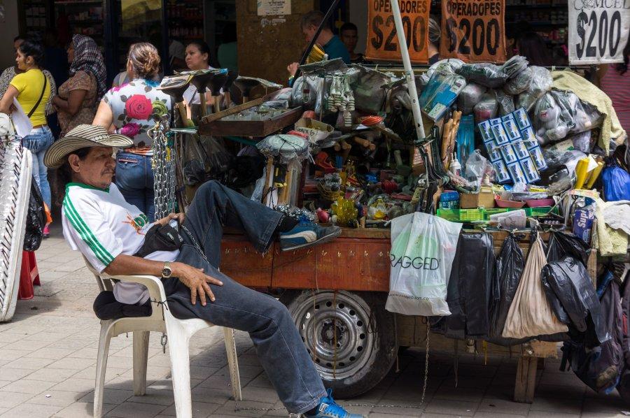 Scène de rue à Medellín, Colombie