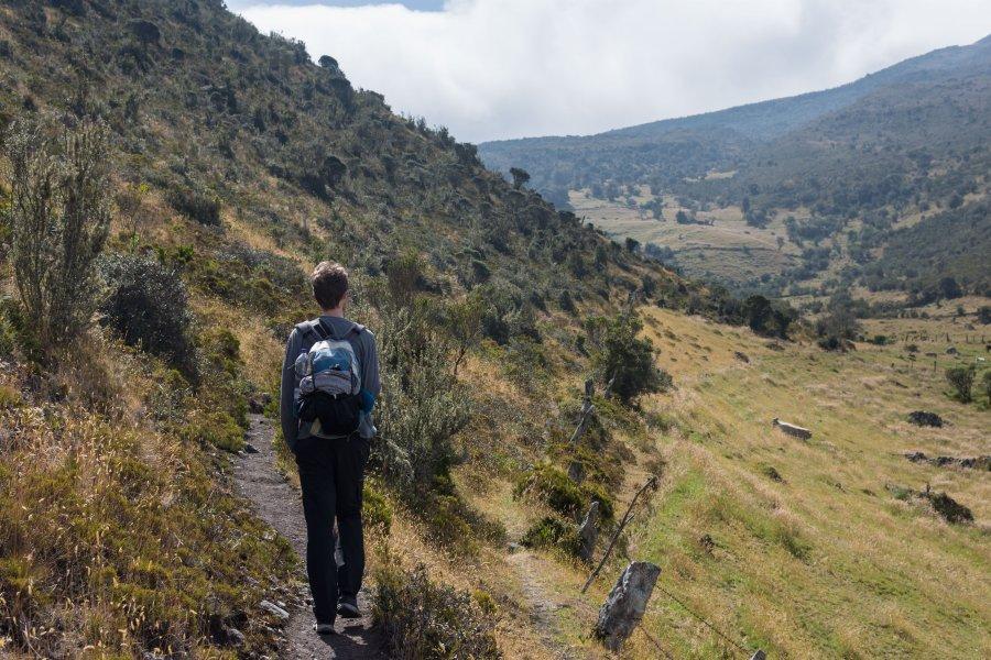 Randonnée dans le Páramo de Ocetá, Colombie