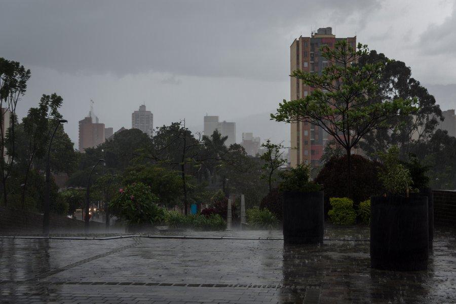 Medellín sous la pluie