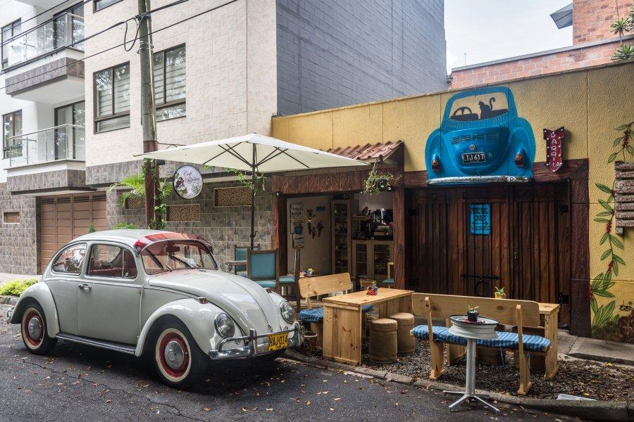 Café dans le quartier de Laureles, Medellín
