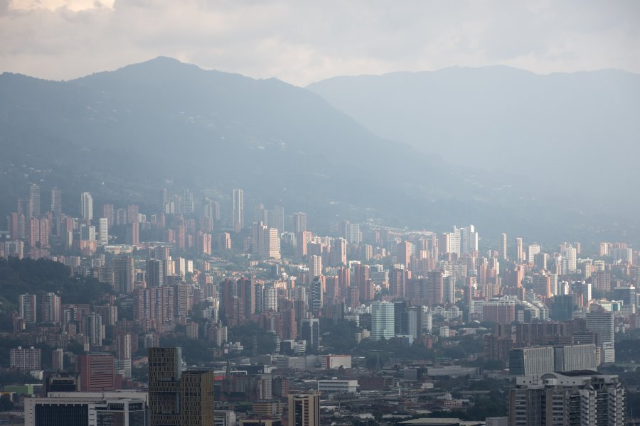 Vue sur Medellín, Colombie