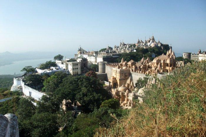 Randonnée jusqu'aux temple de Palitana, Inde