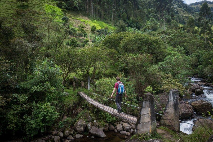 Randonnée près de Jardín, Colombie