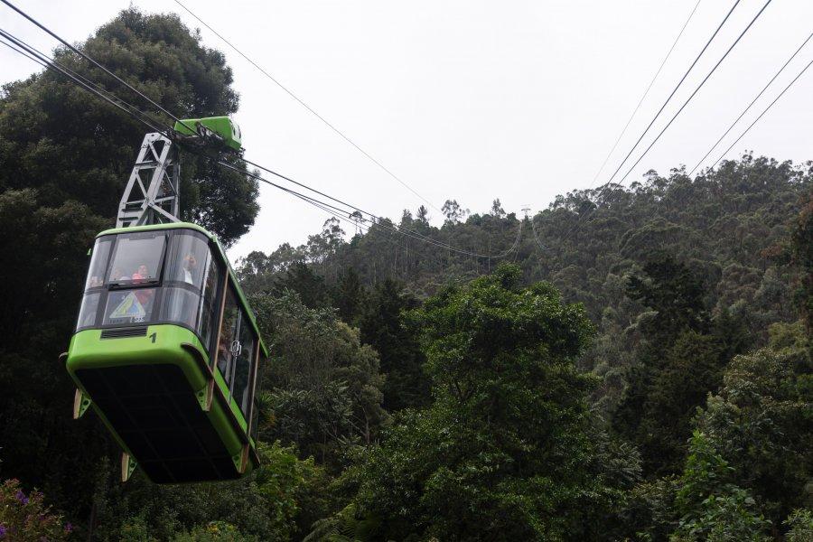Funiculaire à Bogota, Colombie