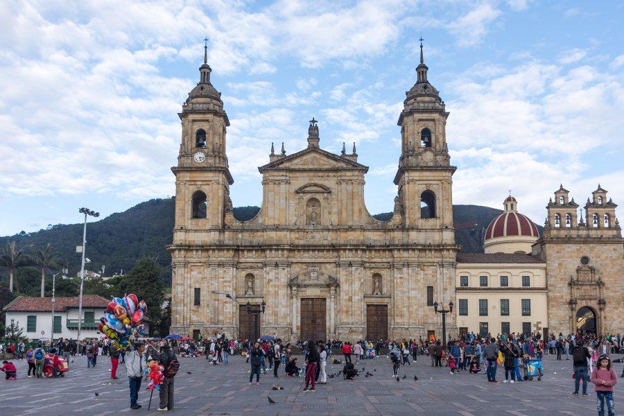 Place Bolivar à Bogota, Colombie