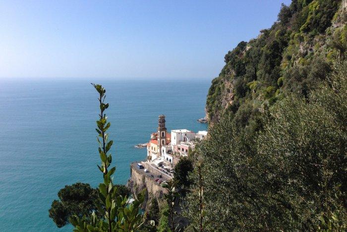 Randonnée vers Amalfi, Italie