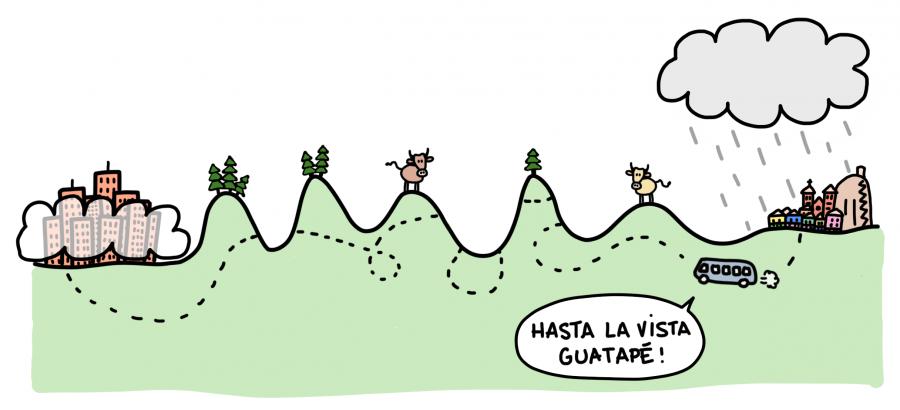 Dessin : hasta la vista Guatapé