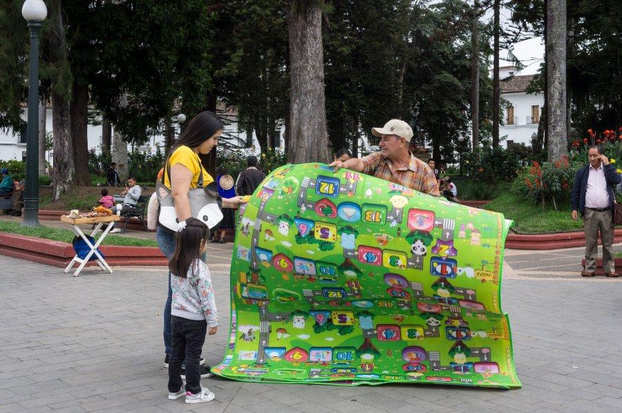 Vendeur de rue à Popayán, Colombie
