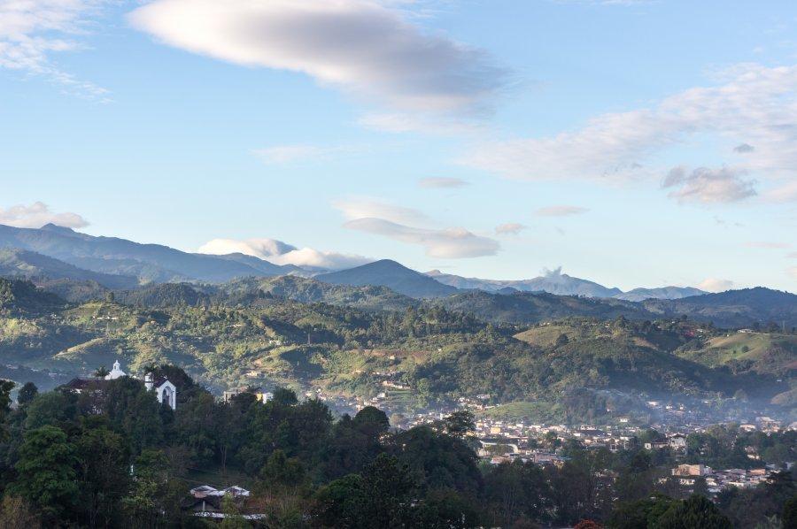 Popayán depuis le Morro del Tulcán, Colombie