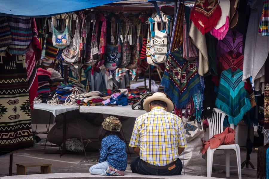 Marché d'artisanat d'Otavalo, Équateur