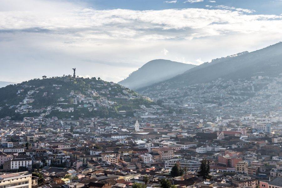 Le Panecillo à Quito, Equateur