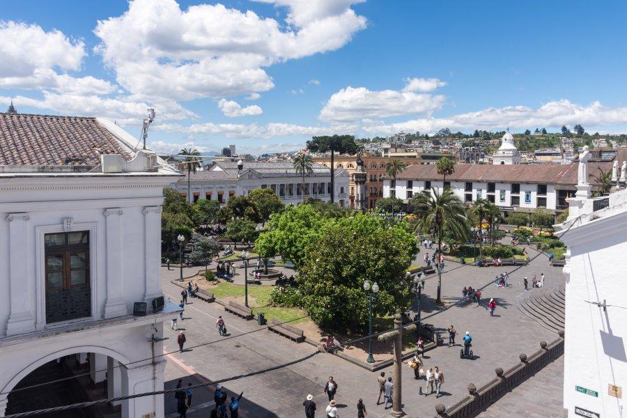 Plaza grande, Quito, Equateur