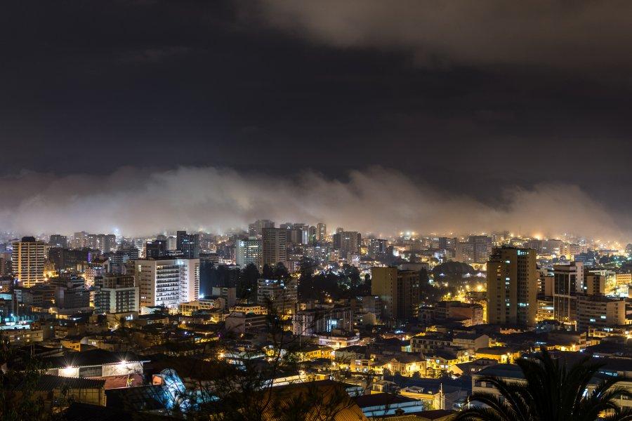 Nuit à Quito, Équateur