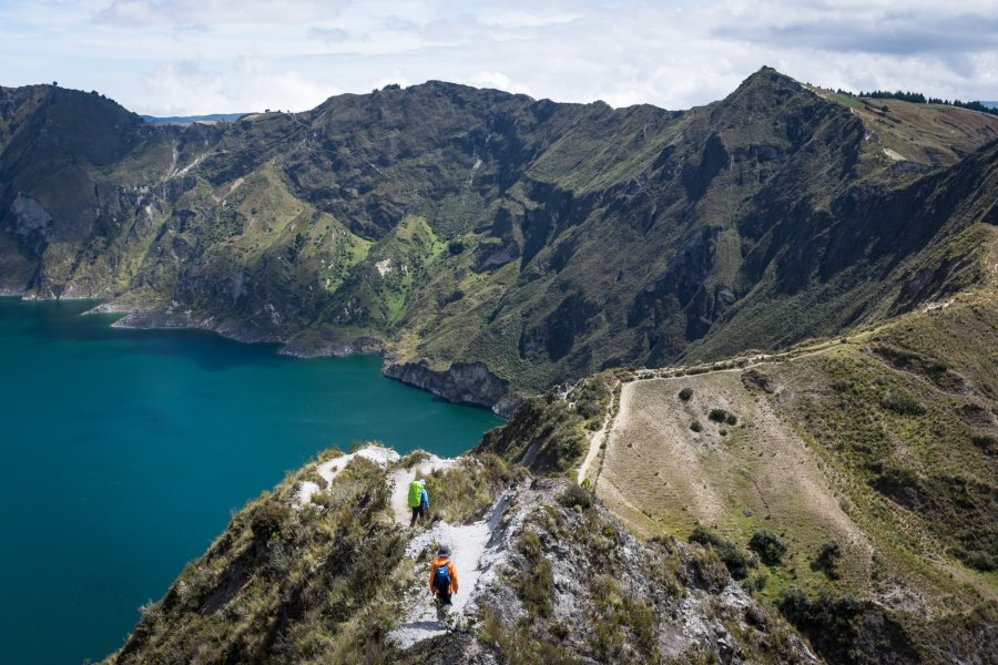 Randonnée sur la boucle de Quilotoa