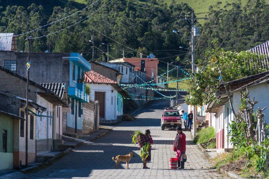 Village d'Isinlivi, Équateur