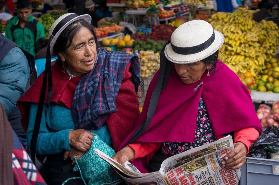 Marché de Riobamba, Équateur