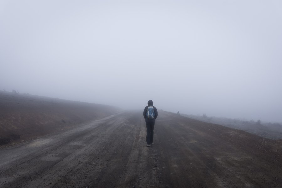 Randonnée brumeuse sur le Chimborazo, Équateur