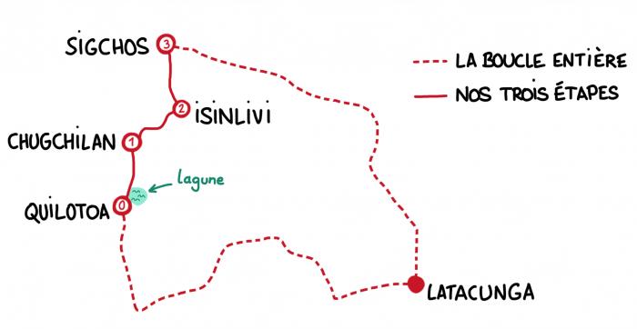Carte Boucle de Quilotoa