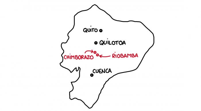 Carte : Riobamba et le Chimborazo en Équateur