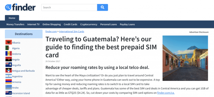 Finder.com Guatemala