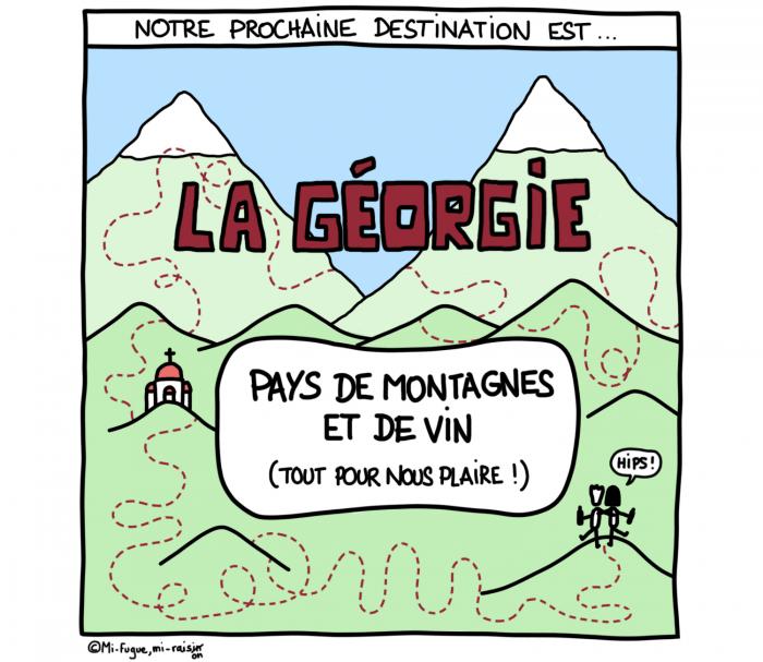 Dessin : Notre prochaine destination est la Géorgie !