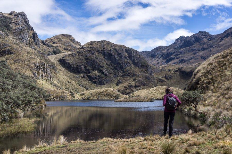 Randonnée dans le parc national El Cajas, Equateur