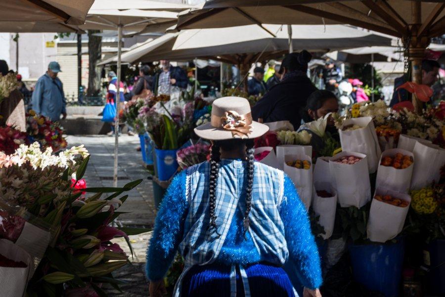 Marché aux fleurs de Cuenca, Équateur