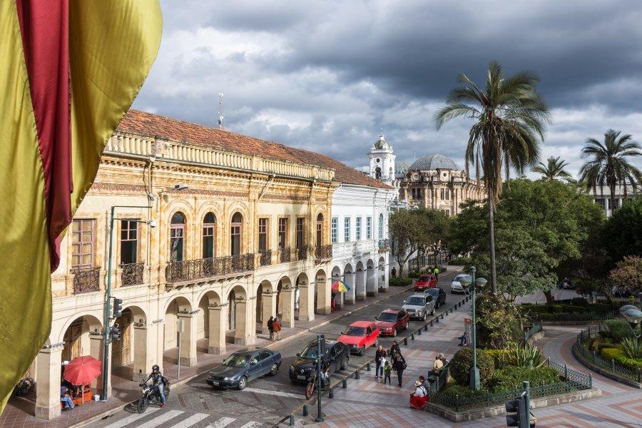 Place centrale de Cuenca, Équateur