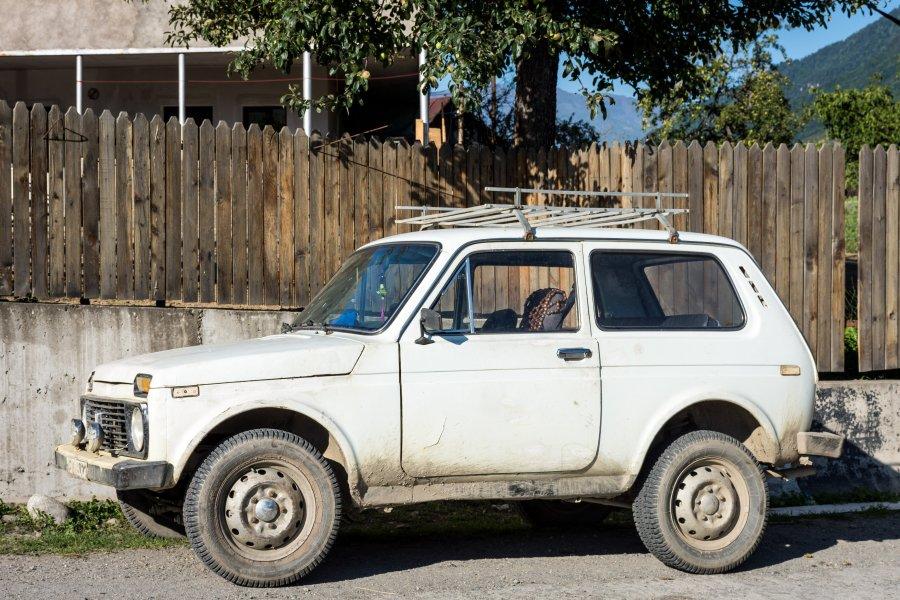 Vieille voiture géorgienne