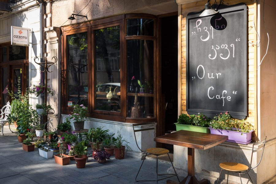 Café de Koutaïssi, Géorgie