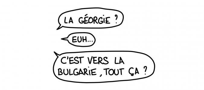 Dessin : la géographie de la Géorgie par le Français moyen