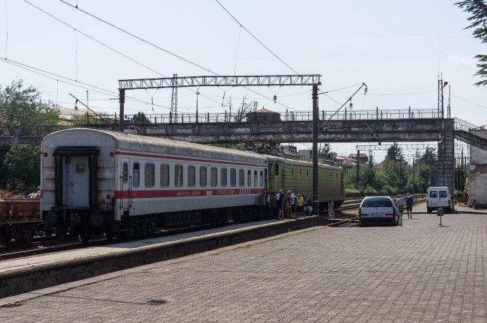 Train de Kutaisi à Tbilissi, Géorgie