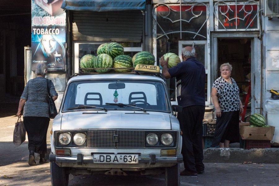 Vendeur de pastèques en Géorgie