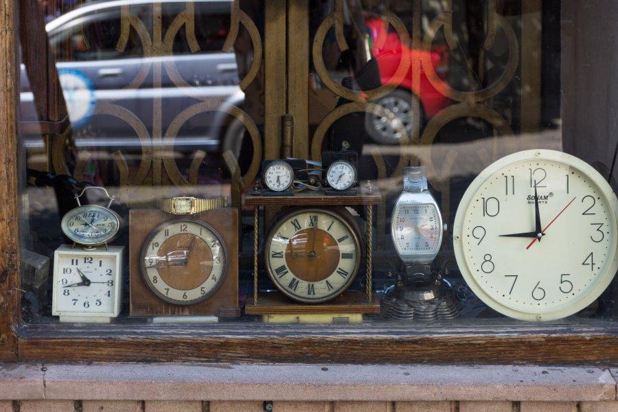 Vieilles horloges à Koutaïssi, Géorgie