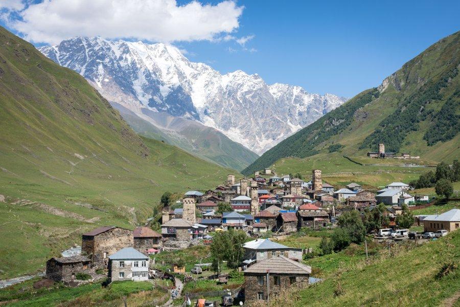 Village d'Ushguli, Svanétie, Géorgie