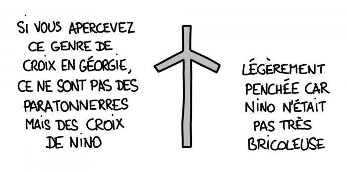 Dessin : la croix de Nino