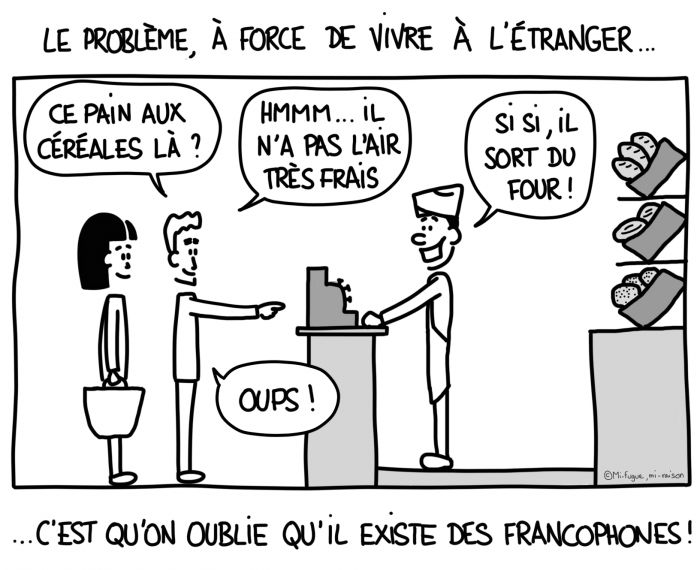 Dessin : Ah... quelle belle surprise, vous parlez français !