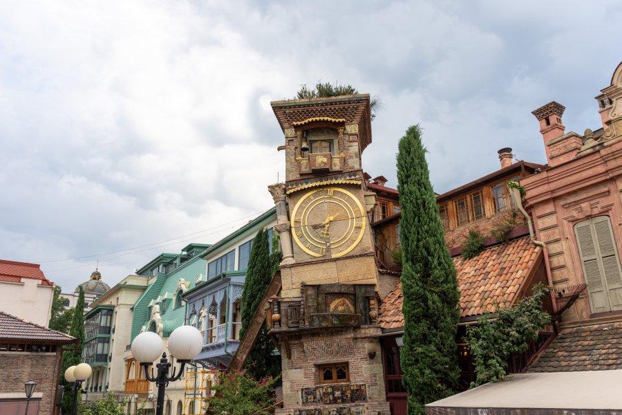 Vieille horloge de Tbilissi, Géorgie