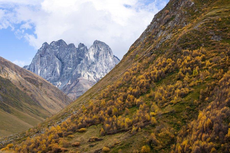 Mont Chaukhi, Juta, Sno, Géorgie