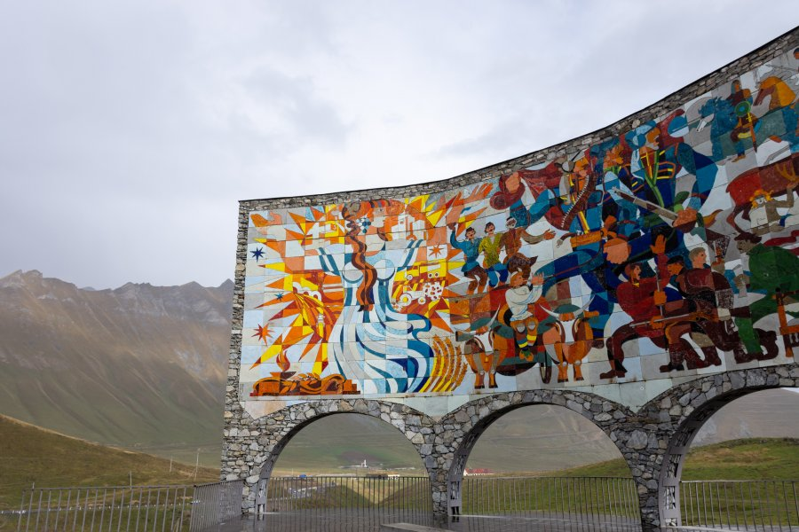 Russia–Georgia Friendship Monument, Gudauri, Géorgie