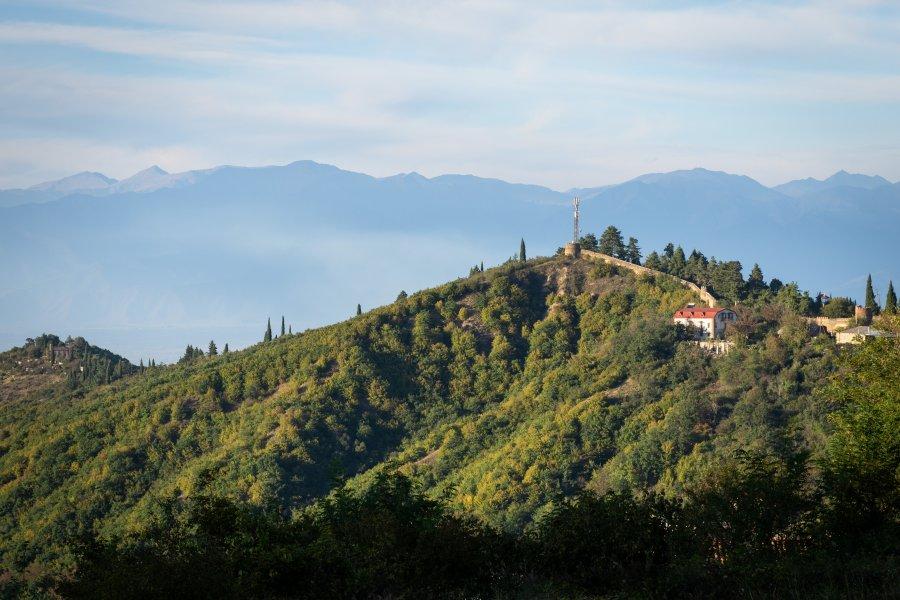 Sighnaghi : paysage de Khakhétie, Géorgie