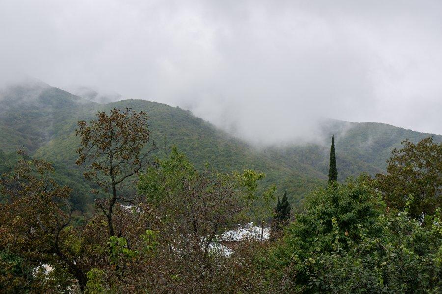 Sighnaghi sous les nuages, Khakhétie, Géorgie